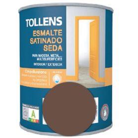 Esmalte al agua cacao satinado seda 0,25 lt. Tollens