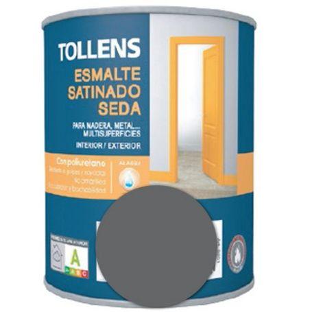 Esmalte al agua gris grafito satinado seda 0,25 lt. Tollens