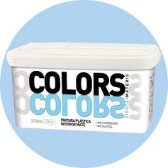 Pintura plástica azul suave 2.5 lt. interior mate materis