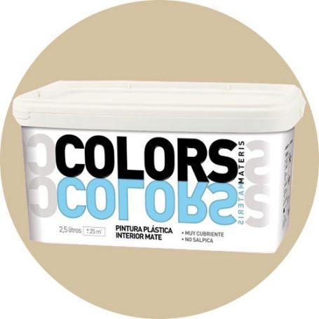 Pintura plástica beige arena 2.5 lt. interior mate Materis