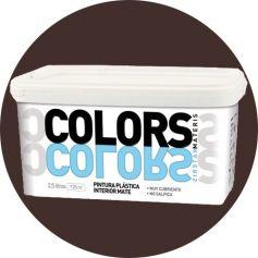 Pintura plástica cacao intenso 2.5 lt. interior mate Materis