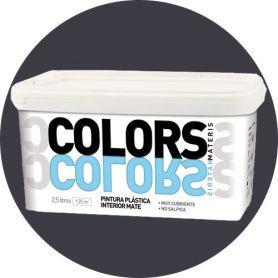 Pintura plástica gris intenso 2.5 lt. interior mate Materis