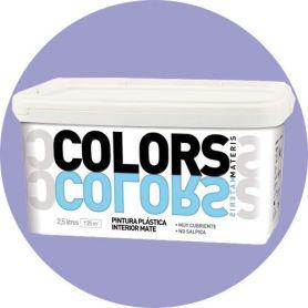 Pintura plástica violeta 2.5 lt. interior mate Materis