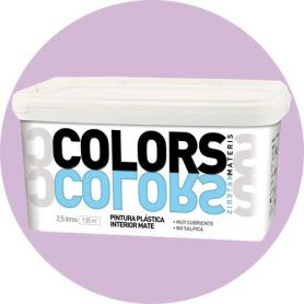 Pintura plástica lila suave 2.5 lt. interior mate Materis