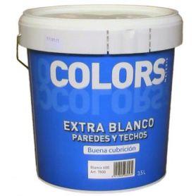 Pintura plástica extra blanco 3.5 lt. interior mate Materis