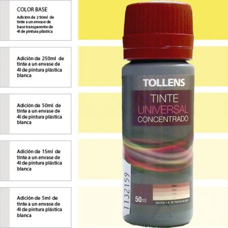 Tinte para pinturas universal amarillo 50 ml. Materis