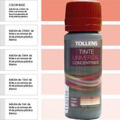 Tinte para pinturas universal rojo óxido 50 ml. Materis