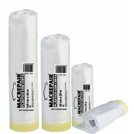 Plastico con cinta adhesiva