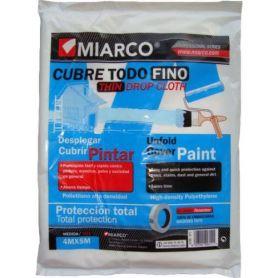 Cubretodo plástico fino 4x5m Miarco