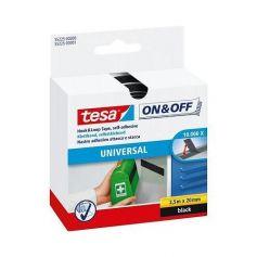 Cinta de cierre On&Off universal 2,5mx20mm negro Tesa