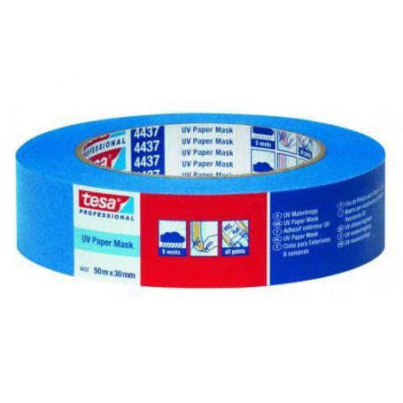 Cinta para exteriores 50m x 38mm azul Tesa