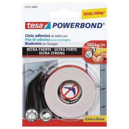 Cinta doble cara Tesa Powerbond ultra fuerte transparente
