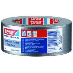Cinta de tejido 50m x 50mm plata mate Tesa