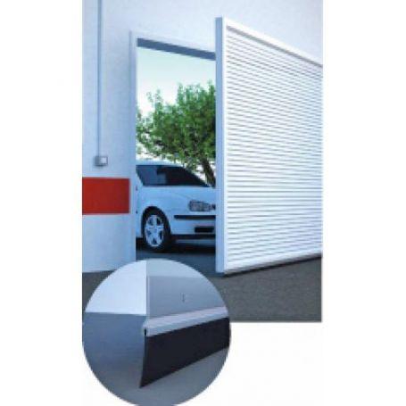 Burlete bajo puerta garaje rígido plata 3m (2x1,5)
