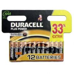 Pila alcalina lR03 AAA Duracell pack 12 unidades