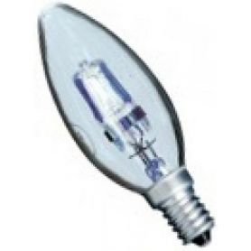 Lampara halógena ahorro vela clara E14 42W (60W) GSC Evolution