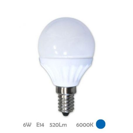 Lámpara Esférica Led E14 6W 6000K Libertina GSC Evolution