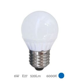 Lámpara Esférica Led E27 6W 6000K Libertina GSC Evolution