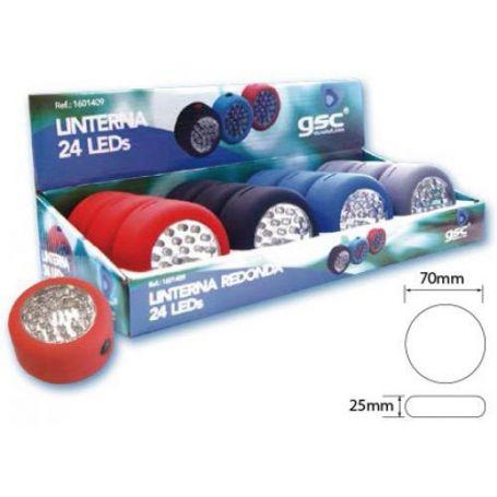 Linterna redonda 24 leds 1 unidad GSC Evolution