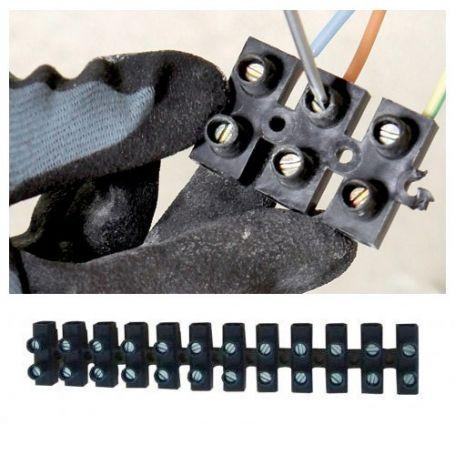 Regleta de conexión homologada N10 negra Miarco