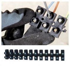 Regleta de conexión homologada N16 negra Miarco