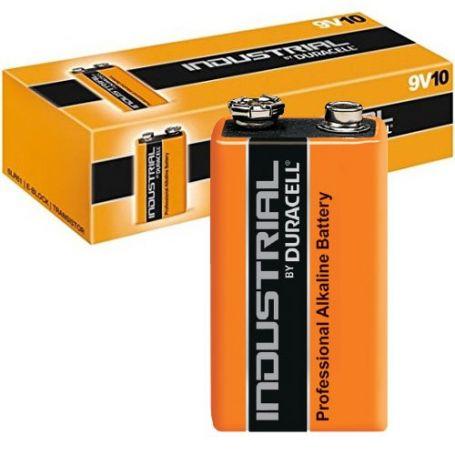 Pila Alcalina 9V MN1604 Duracell Industrial caja 10 unidades