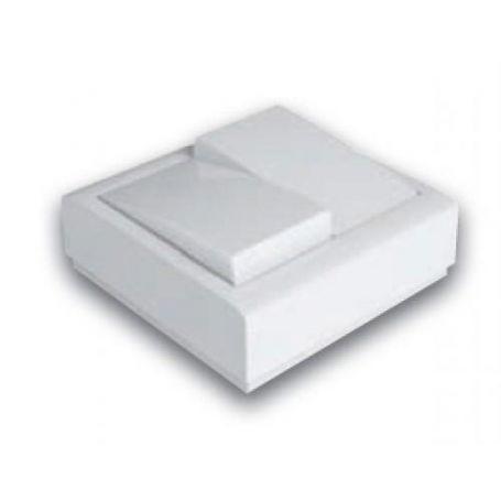 Conmutador doble superficie 10A-250V blanco Famatel