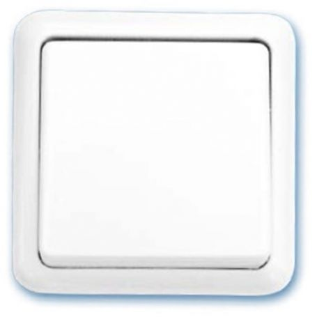 Interruptor de superficie blanco 65x65mm 10A 250V GSC Evolution