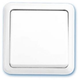 Conmutador superficie blanco 65x65mm 10A 250V GSC Evolution