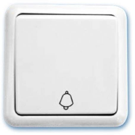 Pulsador superficie campana blanco 65x65mm 10A 250V GSC Evolution