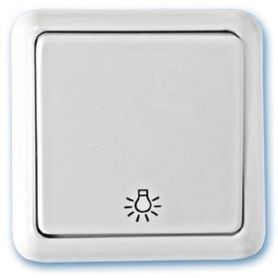 Pulsador superficie luz blanco 65x65mm 10A 250V GSC Evolution