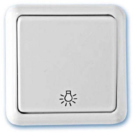 Pulsador superficie luz blanco 65x65mm 10A 250V GSC Evolution