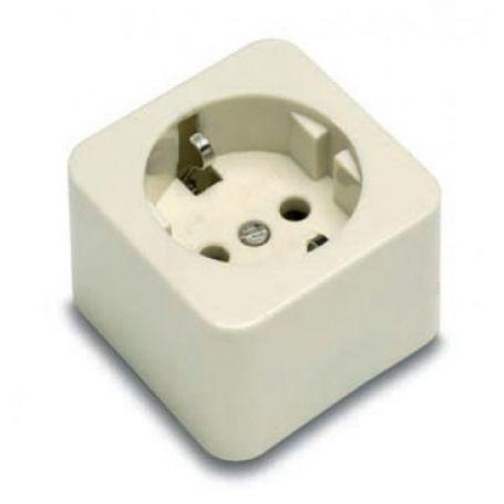Toma de corriente con TTL 16A/250V~ portacontactos en porcelana