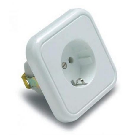 Toma de corriente con TTL, portacontactos en porcelana 16A 250V Famatel