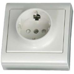 Base sucko TT superficie 80x80mm blanco 16A 250W GSC Evolution.