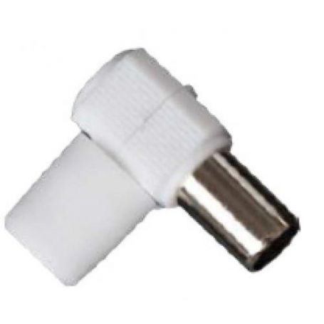 Conector hembra TV acodado GSC Evolution