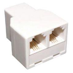 Adaptador/prolongador telefono hembra a 2 hembras 6P4C GSC Evolution