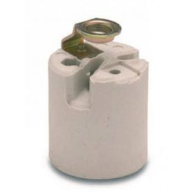 Portalámparas cerámica E-27 4A 250V soporte M10x100 Famatel