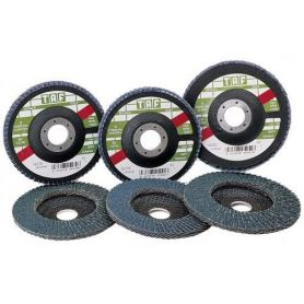 Disco de laminas zirconio 115x22 Taf Vez 39 grano 80