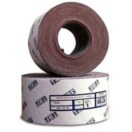 Rollo de tela abrasiva al corindón 100x25 Taf TF41-P grano 40
