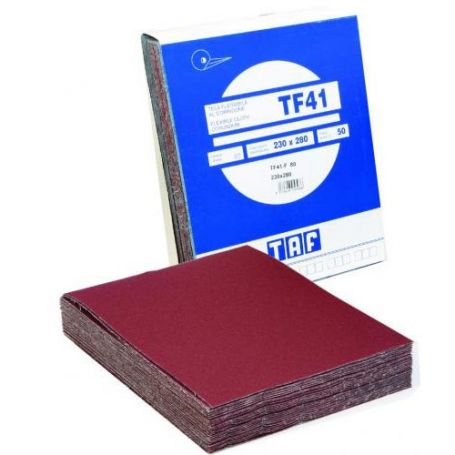 Hoja de tela en corindon 230x280 Taf TF41 grano 80