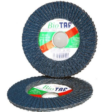 Disco de lamina zirconio 115x22 biodegradable taf LB11Z B-40