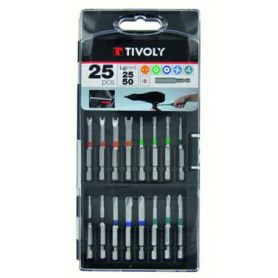 Juego puntas destornillador largas 25 piezas Tivoly