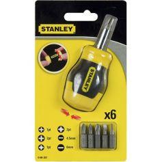 Destornillador multipuntas extra-corto sin carraca 6 puntas Stanley