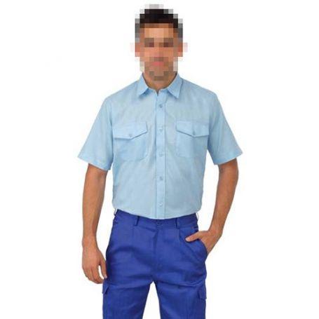 Camisa Tergal manga corta L500 azulina talla 48 Vesin