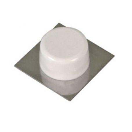 Tope pertua adhesivo blanco/inox modelo 405 Amig