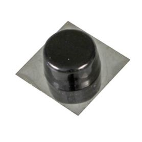 Tope puerta adhesivo negro/inox modelo 405 Amig