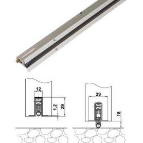 Burlete modelo 1 Amig 1000mm aluminio inox