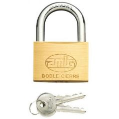 Candado arco normal Amig 2 50mm laton mate blister