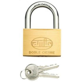 Candado arco normal Amig 2 60mm laton mate blister